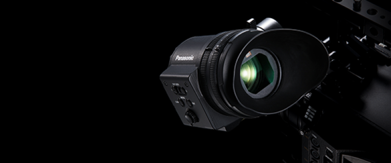 Panasonic Professional Viewfinder for Broadcast & ProAV Camcorders Banner